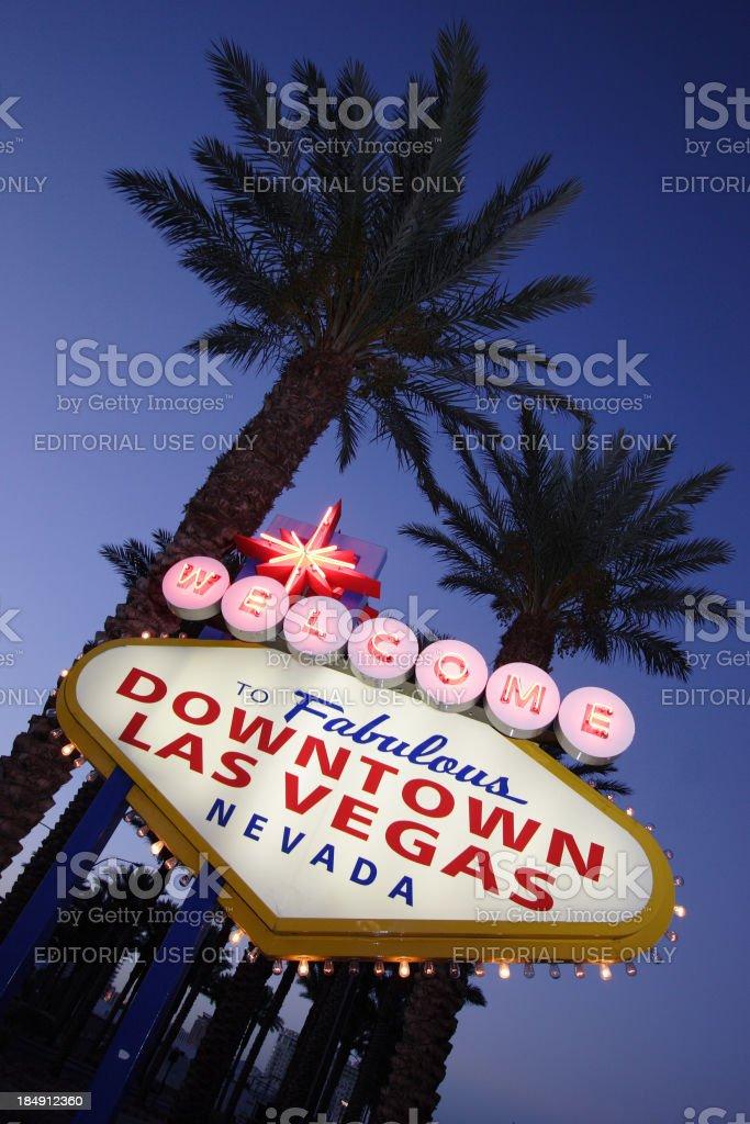 Downtown Las Vegas Baby stock photo