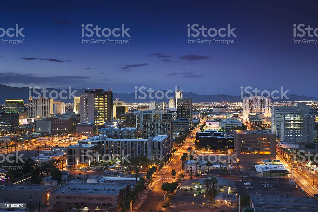 Downtown Las Vegas stock photo
