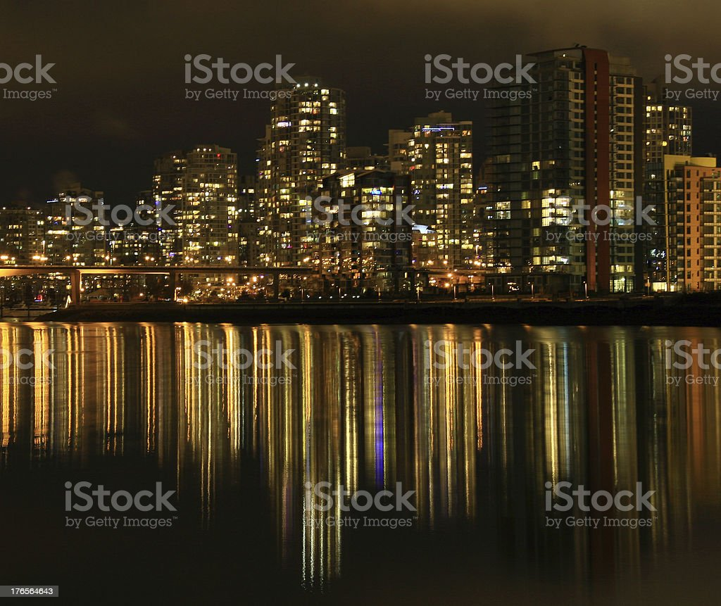 Downtown Lights royalty-free stock photo