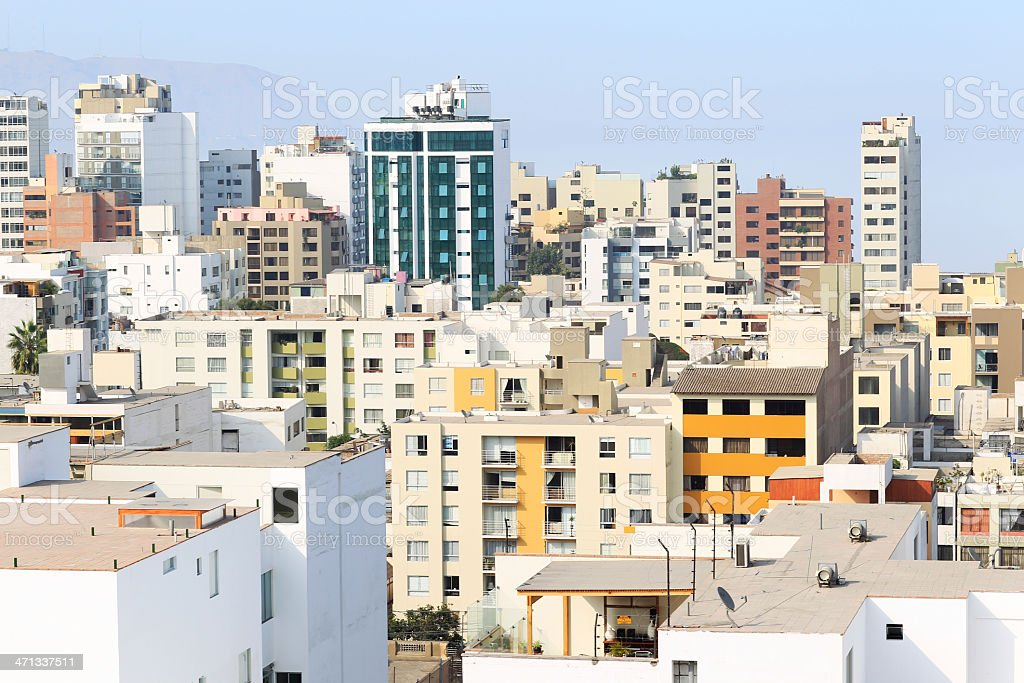 Downtown Lima Skyline royalty-free stock photo