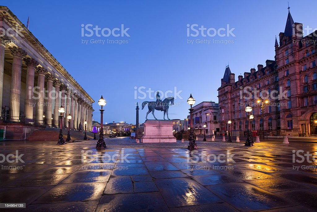 Downtown Liverpool England UK St Georges Plateau stock photo