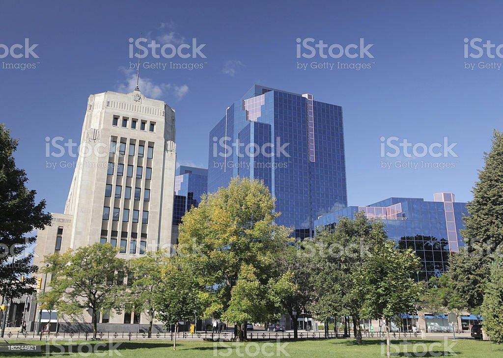 Downtown London Ontario Park stock photo