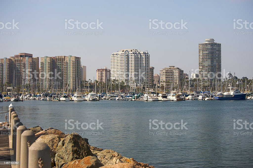 Downtown Long Beach royalty-free stock photo
