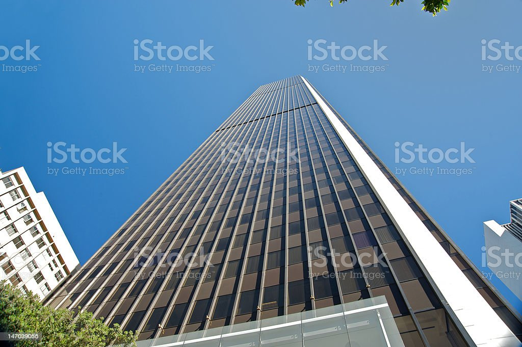 Downtown Los Angeles building royalty-free stock photo