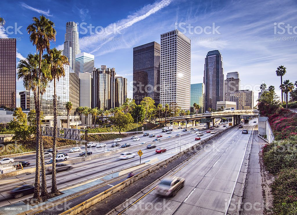 Downtown Los Angeles, California, during the day stock photo