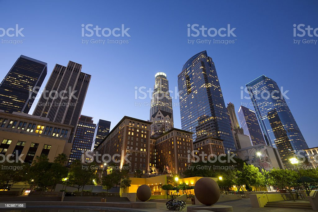 Downtown Los Angeles California royalty-free stock photo