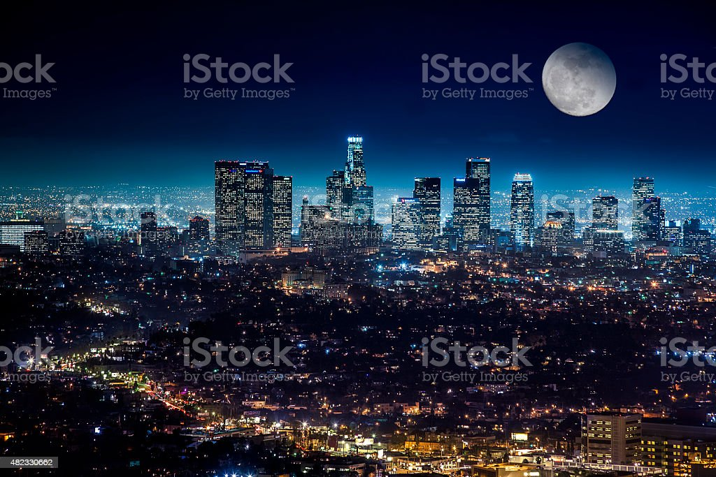 Downtown Los Angeles Cityscape stock photo