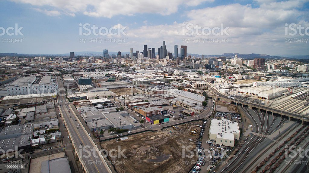 Downtown Los Angeles on a Clear Day stock photo