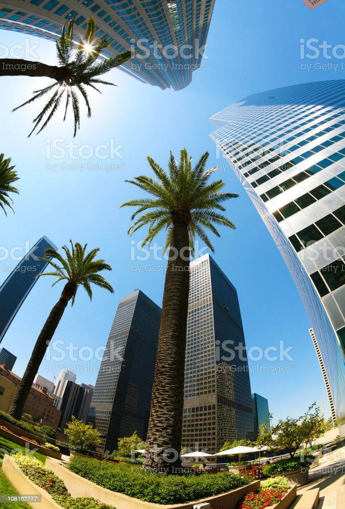 Downtown Los Angeles On A Hot Sunny Day royalty-free stock photo