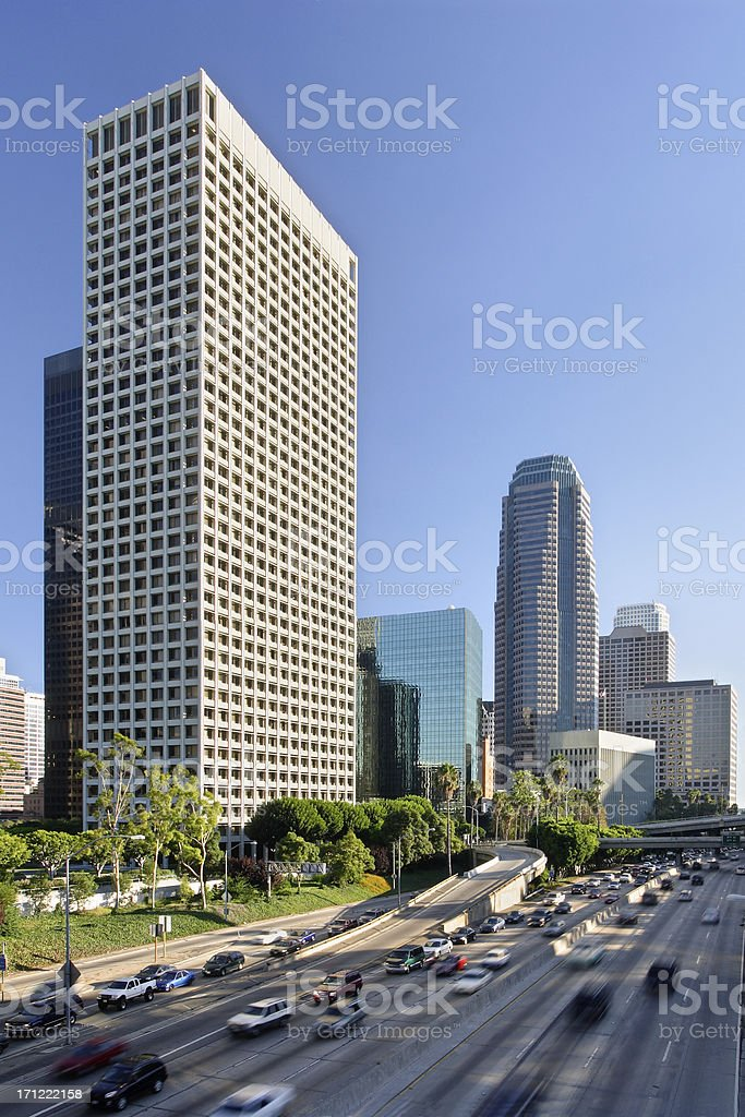 Downtown Los Angeles royalty-free stock photo