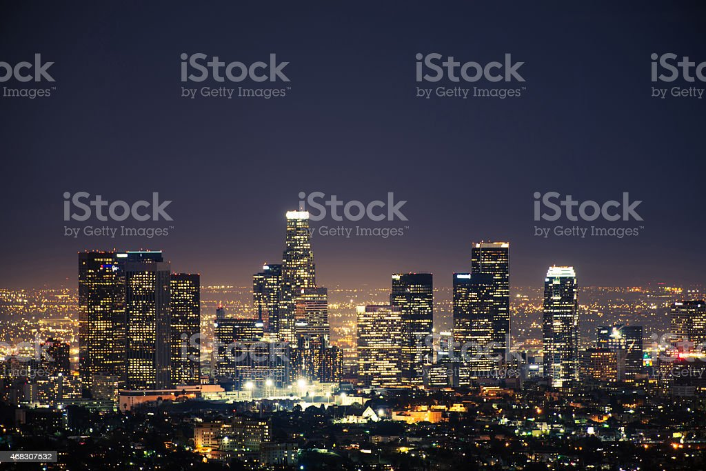 Downtown Los Angeles USA stock photo