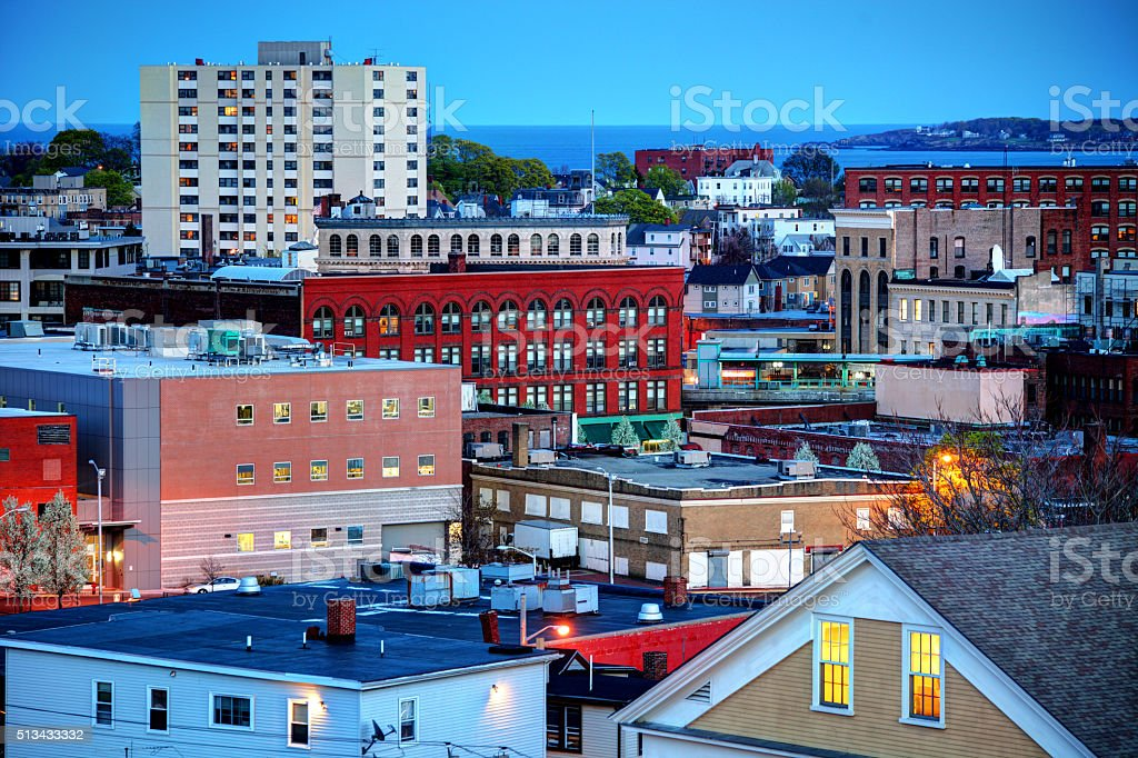Downtown Lynn, Massachusetts stock photo