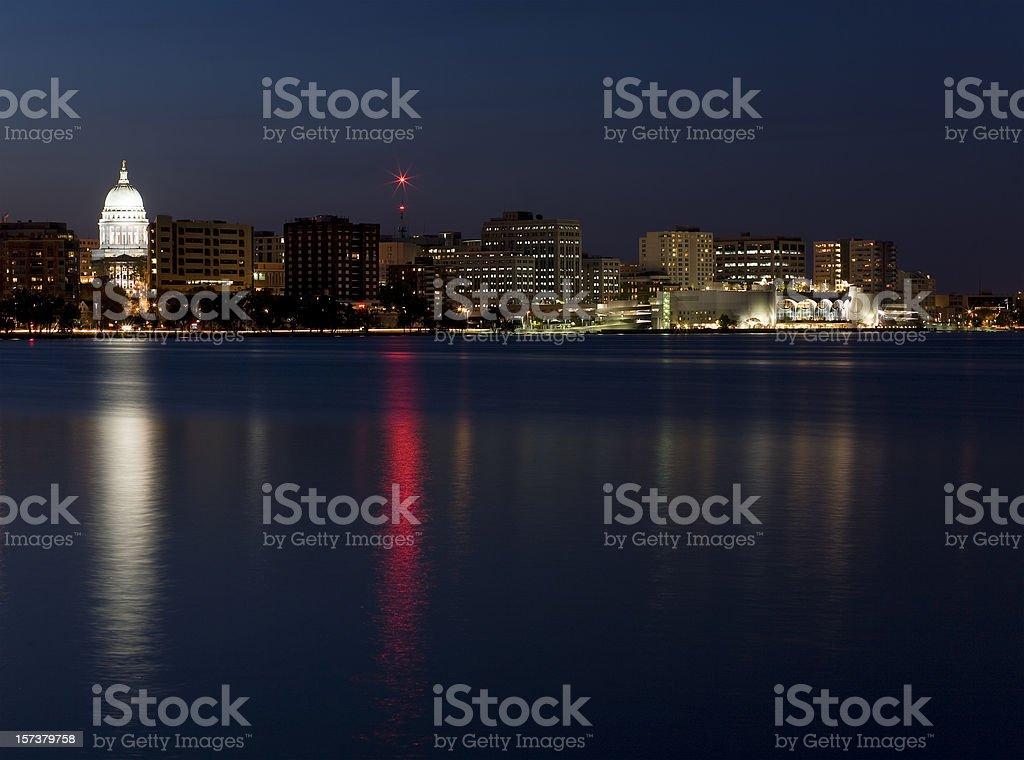 Downtown Madison Skyline at Twilight stock photo