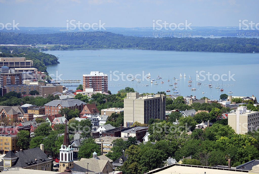 Downtown Madison, Wisconsin stock photo
