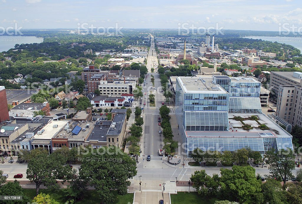 Downtown Madison Wisconsin stock photo