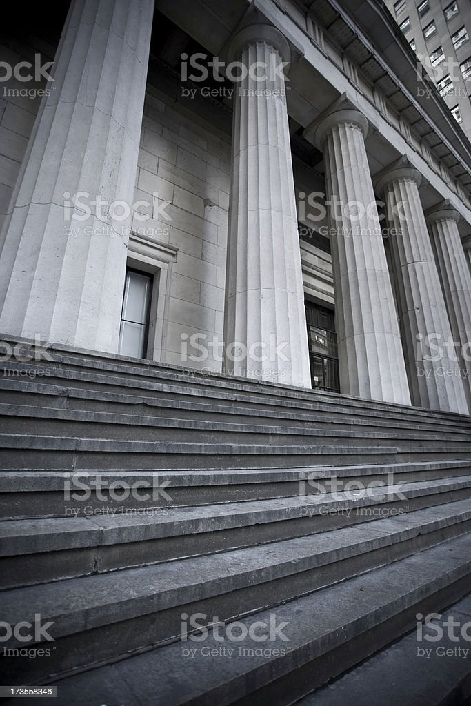 Downtown Manhattan federal architecture royalty-free stock photo