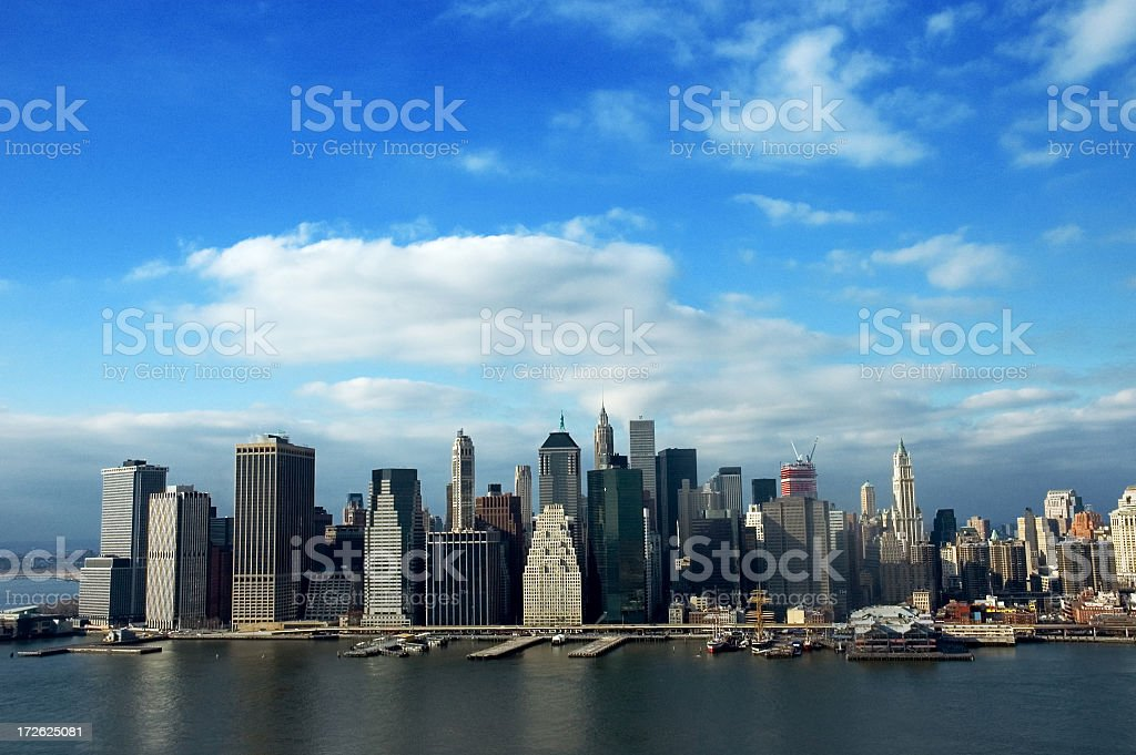 Downtown Manhattan, New York City royalty-free stock photo