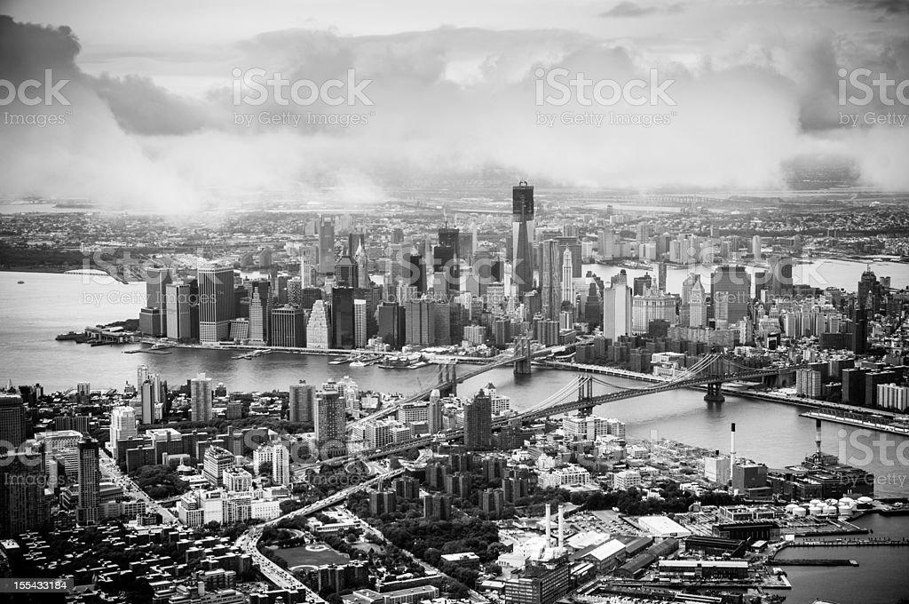 Downtown Manhattan New York royalty-free stock photo