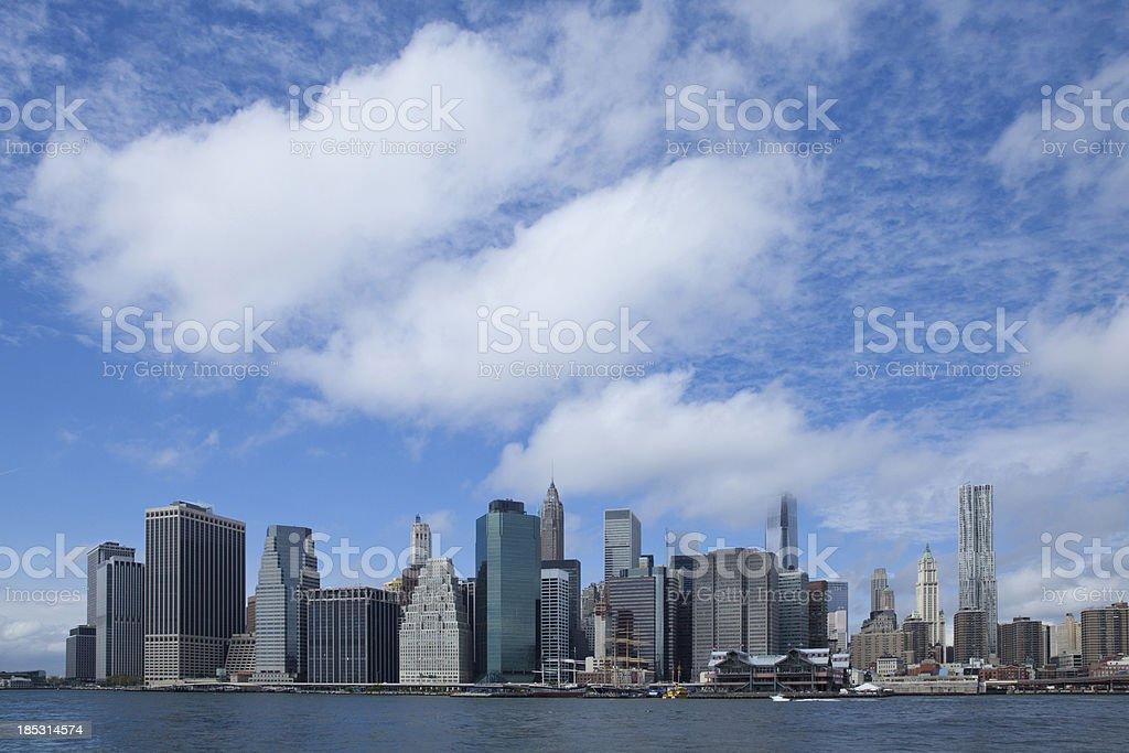 Downtown Manhattan New York Skyline royalty-free stock photo