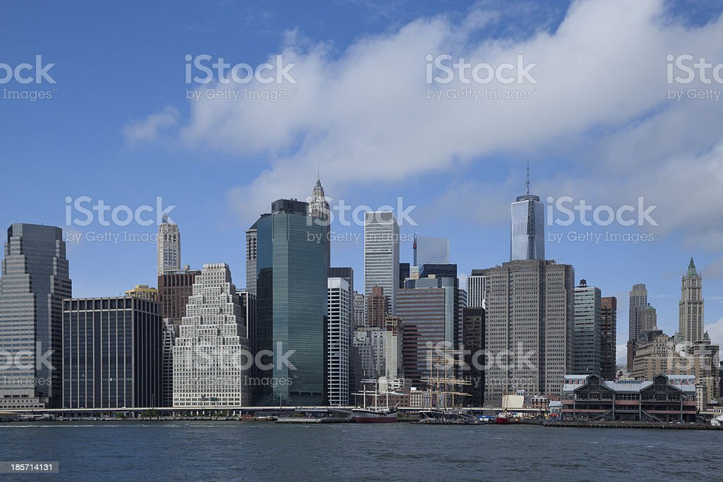 Downtown Manhattan New York Skyline royalty-free stock photo