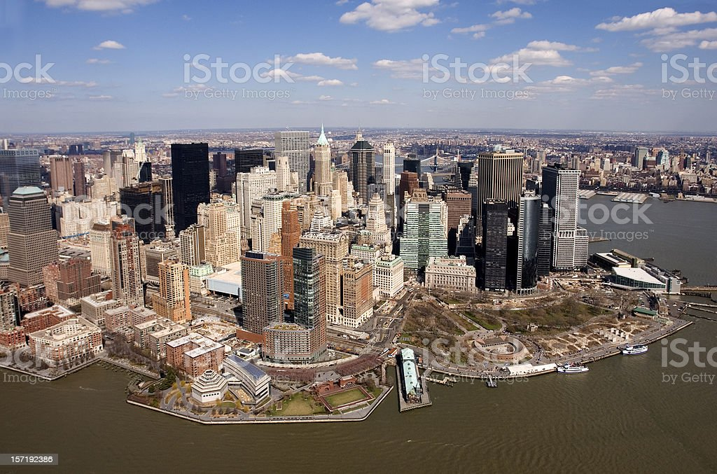 Downtown Manhattan royalty-free stock photo