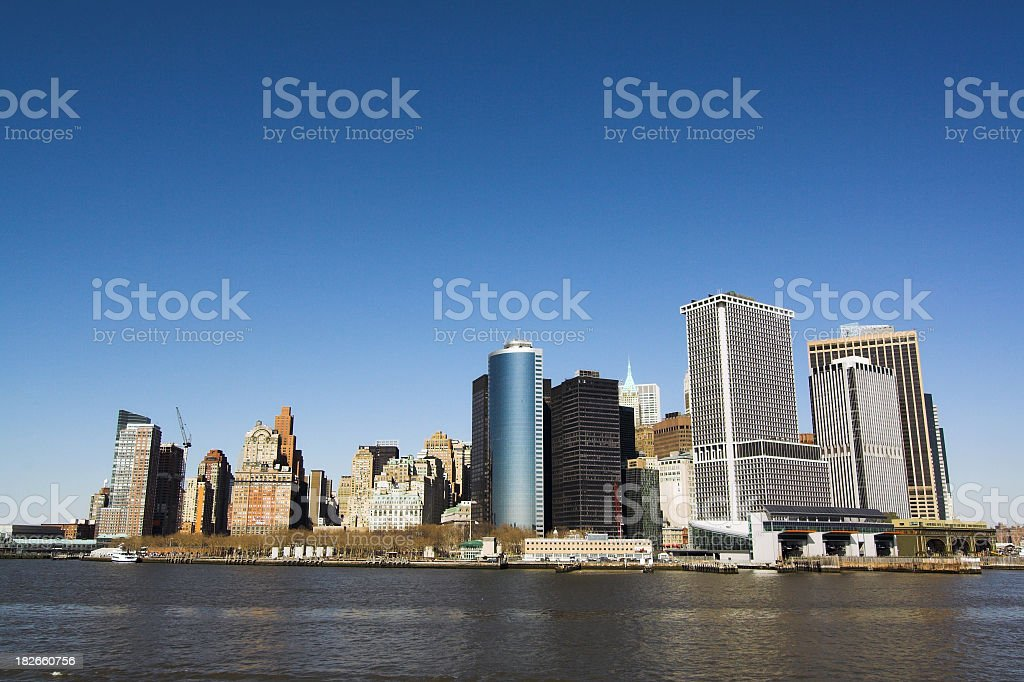 Downtown Manhattan Skyline royalty-free stock photo