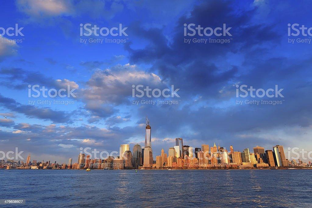 Downtown Manhattan skyline stock photo