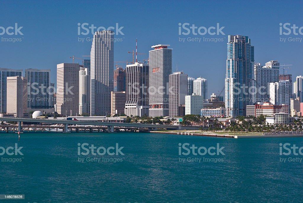 Downtown Miami Bayfront stock photo