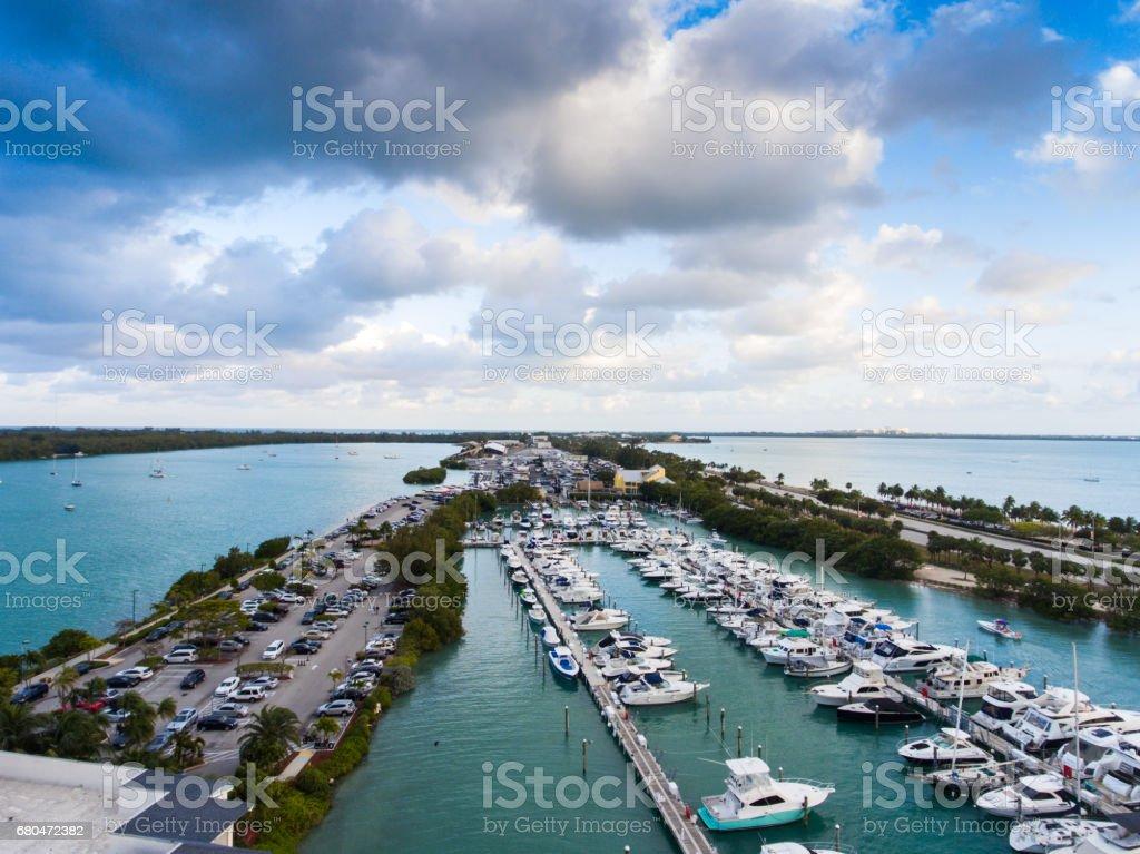 Downtown Miami City Harbor  in Florida USA stock photo
