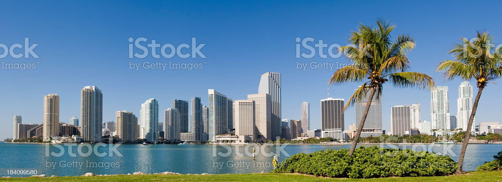 Downtown Miami City Skyline USA royalty-free stock photo