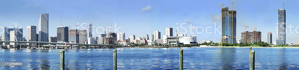 downtown miami royalty-free stock photo