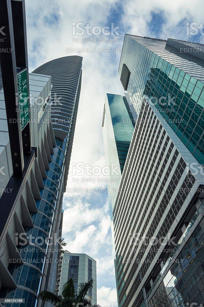 Downtown Miami Skyscrapers stock photo