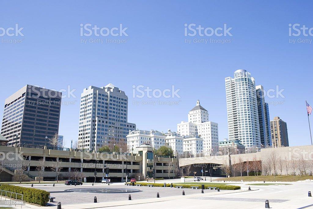 Downtown Milwaukee royalty-free stock photo
