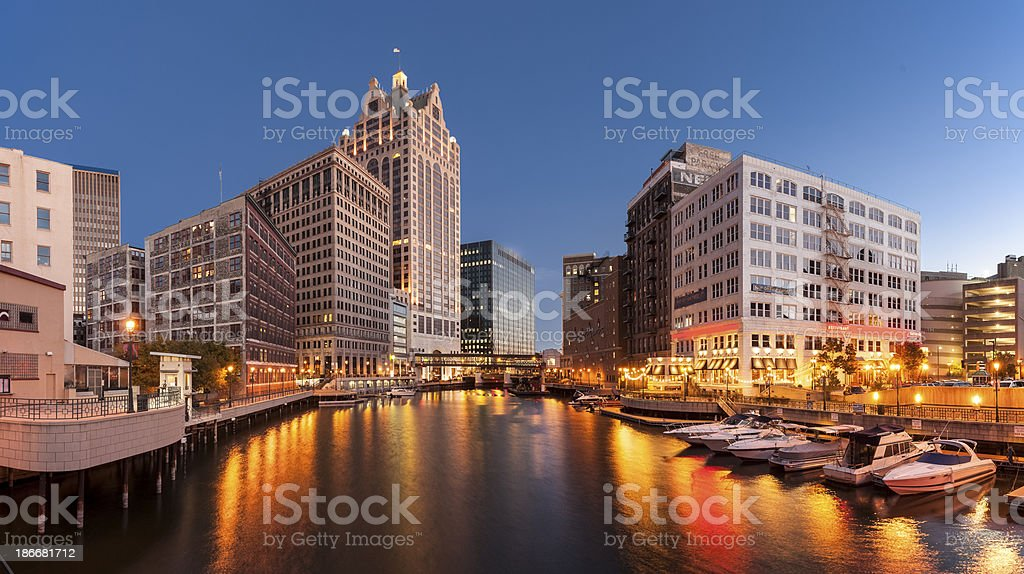 Downtown Milwaukee, Wisconsin stock photo
