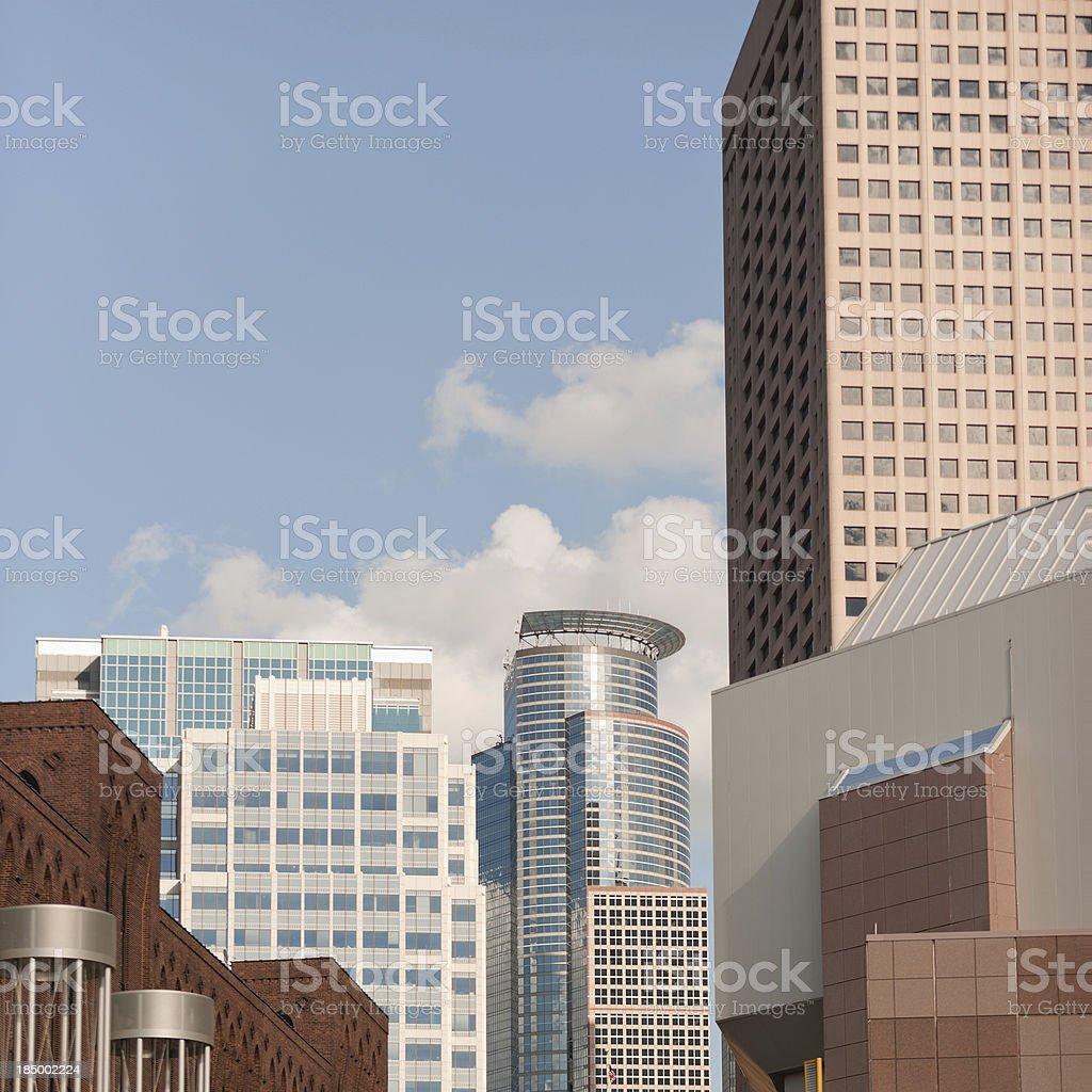 Downtown Minneapolis Minnesota royalty-free stock photo