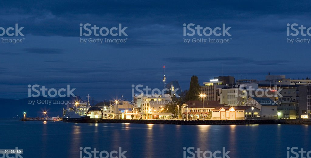 Downtown Molde stock photo