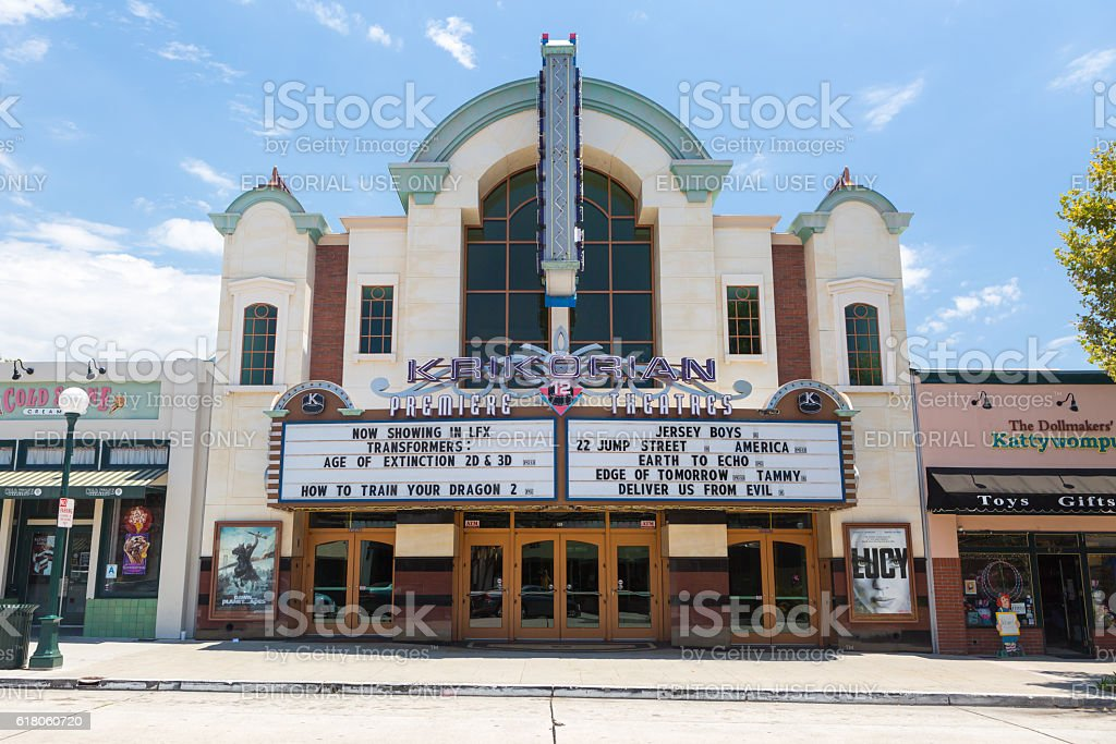 Downtown Monrovia Theater stock photo