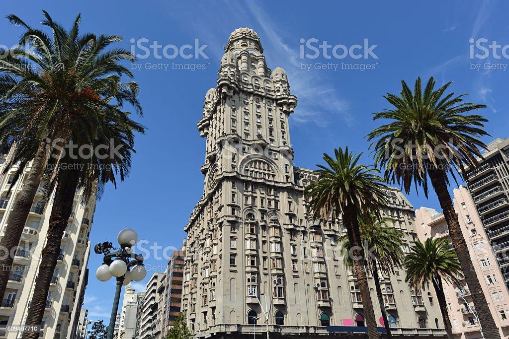 Downtown Montevideo, Uruguay stock photo
