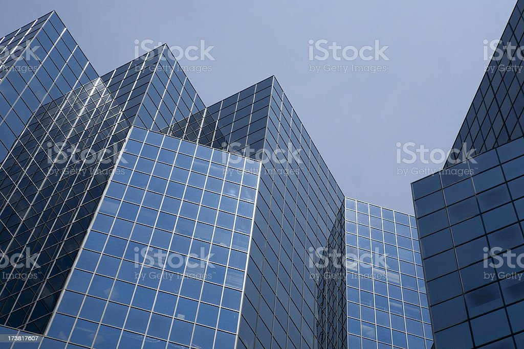 Downtown Montreal Buildings royalty-free stock photo