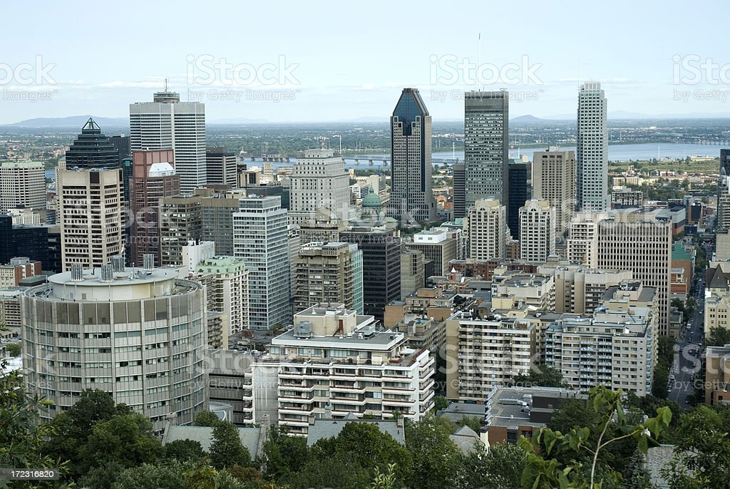 Downtown Montreal stock photo