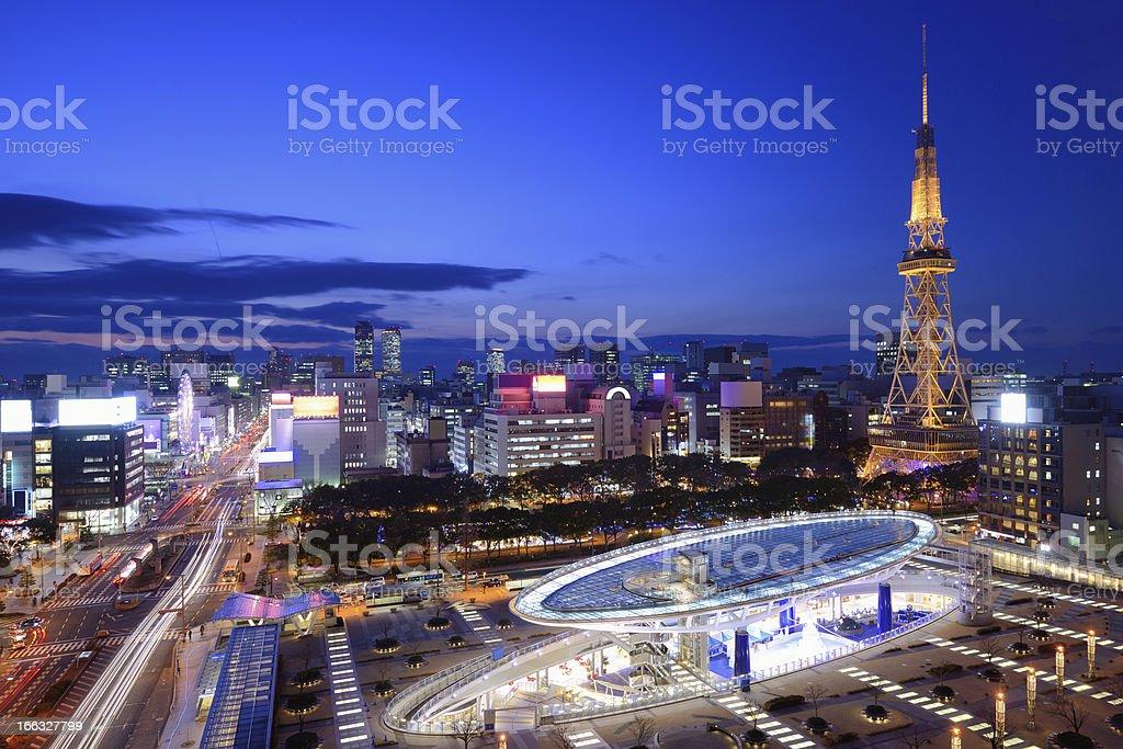 Downtown Nagoya stock photo