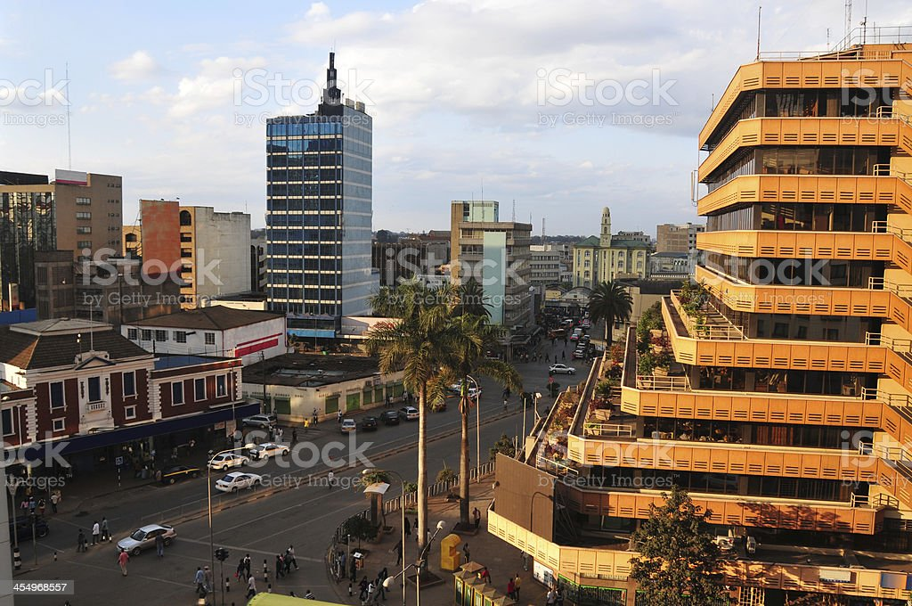 Downtown Nairobi, Kenya stock photo