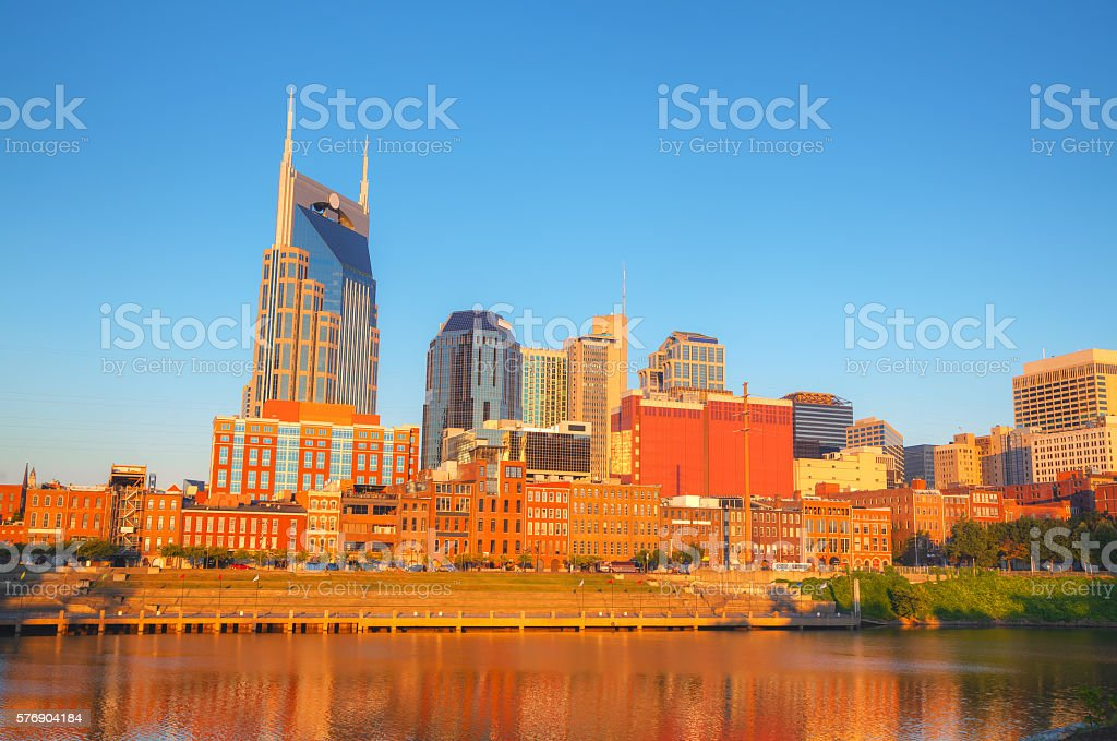 Downtown Nashville cityscape in the morning stock photo