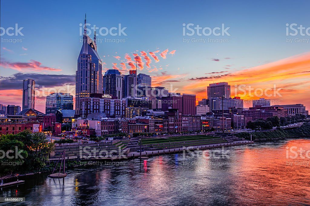 Downtown Nashville stock photo