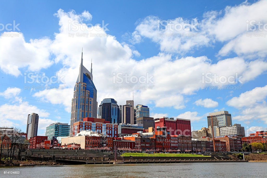 Downtown Nashville Skyline stock photo