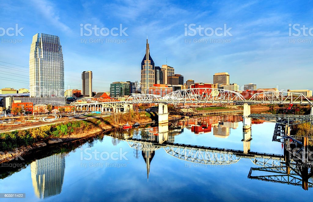 Downtown Nashville Tennessee Skyline stock photo