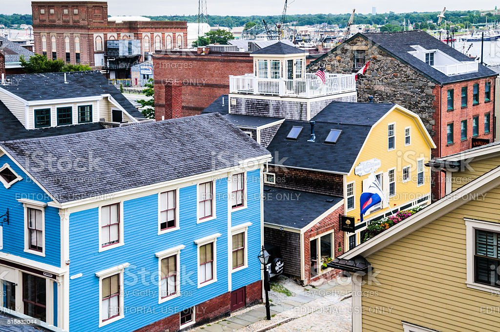 Downtown New Bedford stock photo