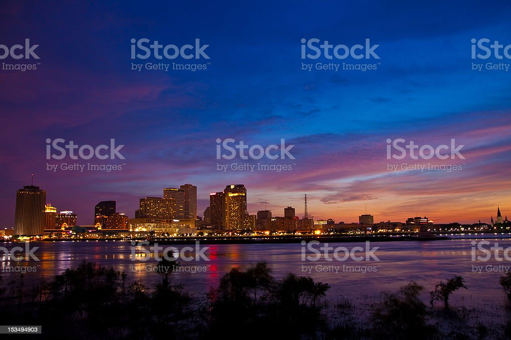Downtown New Orleans Evening royalty-free stock photo