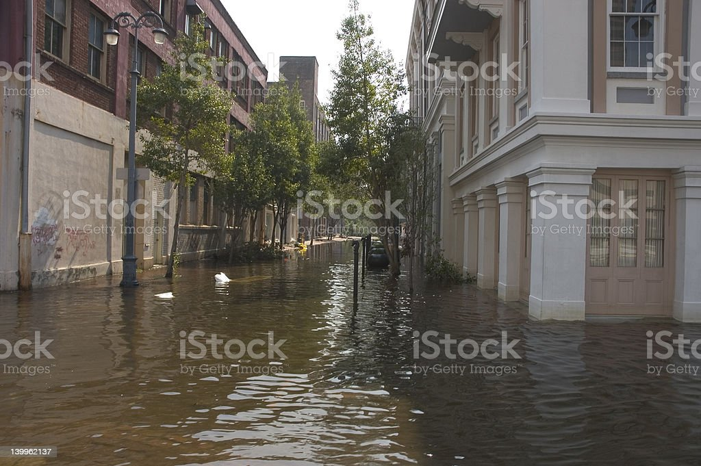 Downtown New orleans post Katrina stock photo