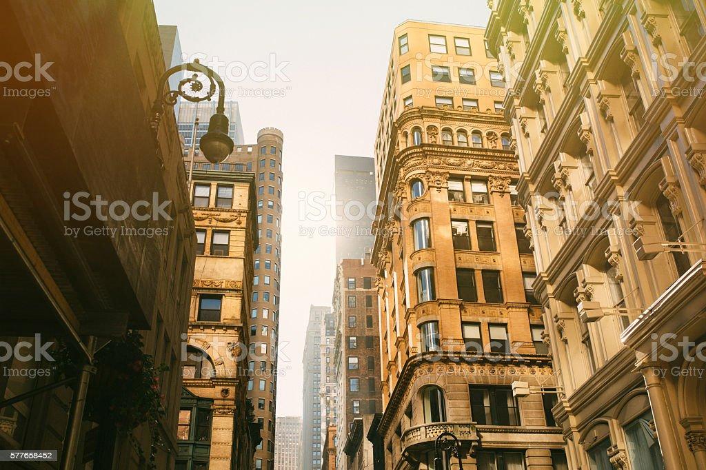 Downtown New York City stock photo